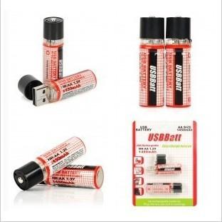 30pcs/lot New USB battery AA 1450mAh 1.2V Ni-MH Rechargeable Battery black<br><br>Aliexpress