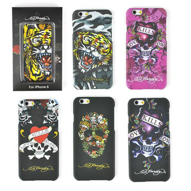 Fashion tide, New tigher skull Ed Hardy hard back cover case For iPhone 6 4.7inch with retail package(China (Mainland))