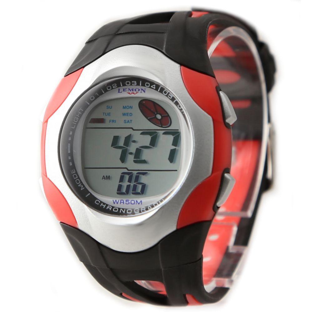 10Pcs Wholesale DW313G Round PNP Shiny Silver Watchcase Date Alarm BackLight Women Digital Watch(China (Mainland))