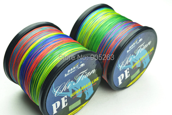 Available 500M PE diameter braided fishing line VERTICAL JIGGING multicolour Tackle 4 strands