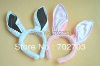 Mixed color Season Trading Halloween Costume Accessory rosy plush Bunny ears bopper headband 40pcs/lot