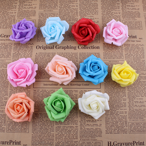 Real touch Bigger EVA foam artificial flowers rose heads christmas party wedding home decoration flower DIY kissing ball(China (Mainland))