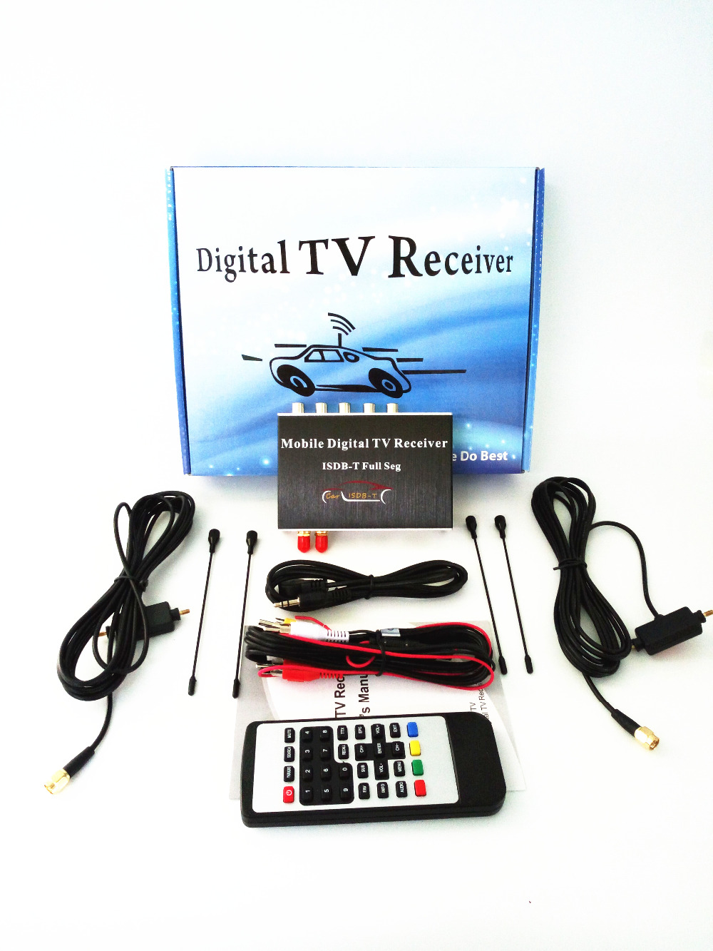 140-190km/h Double Antenna ISDB-T Full Seg Mobile Digital TV Box Car TV Receiver  For Brazil Chile Argentina Peru Japan