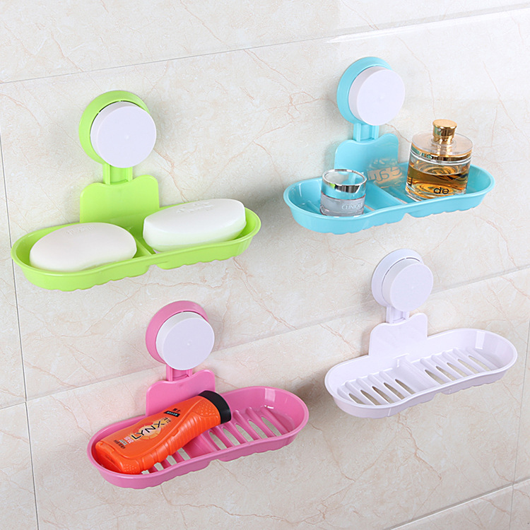 Toilet Suction Cup Holder Bathroom Shower Soap Dish Home Hotel Travel Soap Holder tray Wall Soap Holder Storage 2 Box Hold 5kg(China (Mainland))