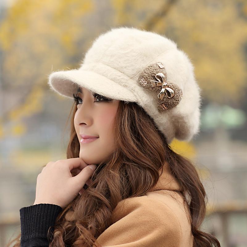 womens winter hat fashion rabbit fur hats
