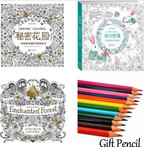 Secret Garden Coloring Book Free Latest Design Flower Shape Hand Painted Secrt