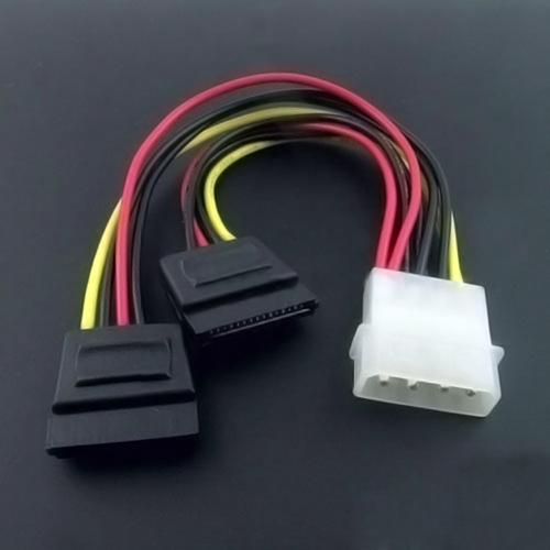 2pcs IDE to 2x Serial ATA SATA HDD Power Adapter Cable #314(China (Mainland))