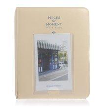 X! 64 Pockets Mini Album Case Storage Polaroid Photo FujiFilm Instax Film Size - Beige Better Home&Better Life store