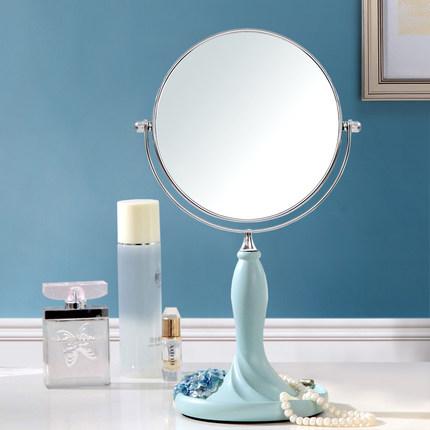 Europe type double rotating cosmetic mirror fashion desktop makeup mirror resin lovely princess dressing mirror(China (Mainland))