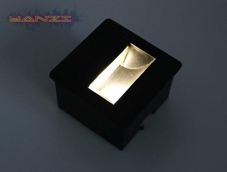 Купить AC85-265V Освещение 3 Вт СВЕТОДИОДНЫЙ Светильник Стены Рампы Угол Света Встроенных Огни Лестницы Шаг Света Открытый Водонепроницаемый Звездная Ночь