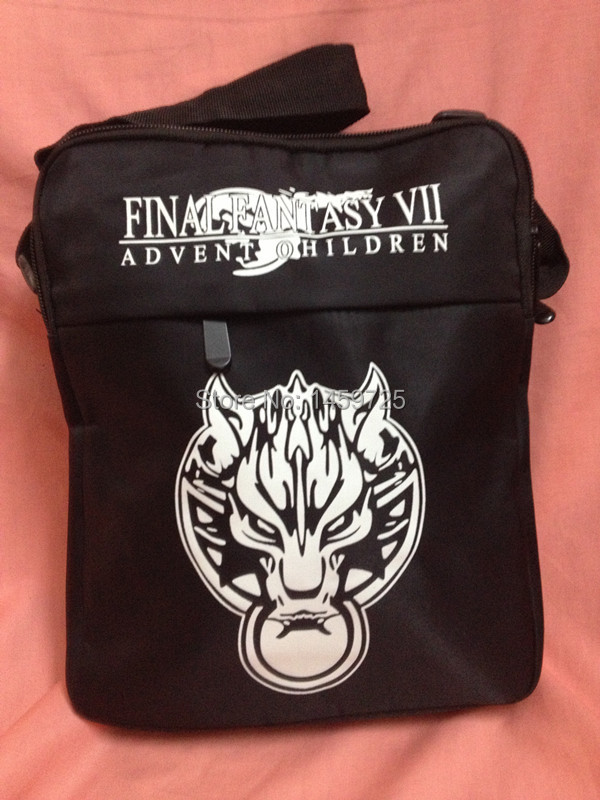 XMAS Gift Anime Final Fantasy FF VII Advent Children Wolf Messenger Sling Shoulder School Sport Bag Toy(China (Mainland))