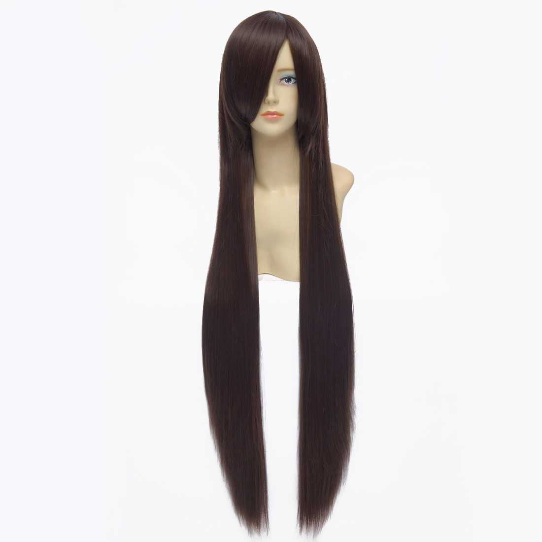 100cm Deep Brown Straight Long Synthetic Full Cosplay Costume Anime Wig