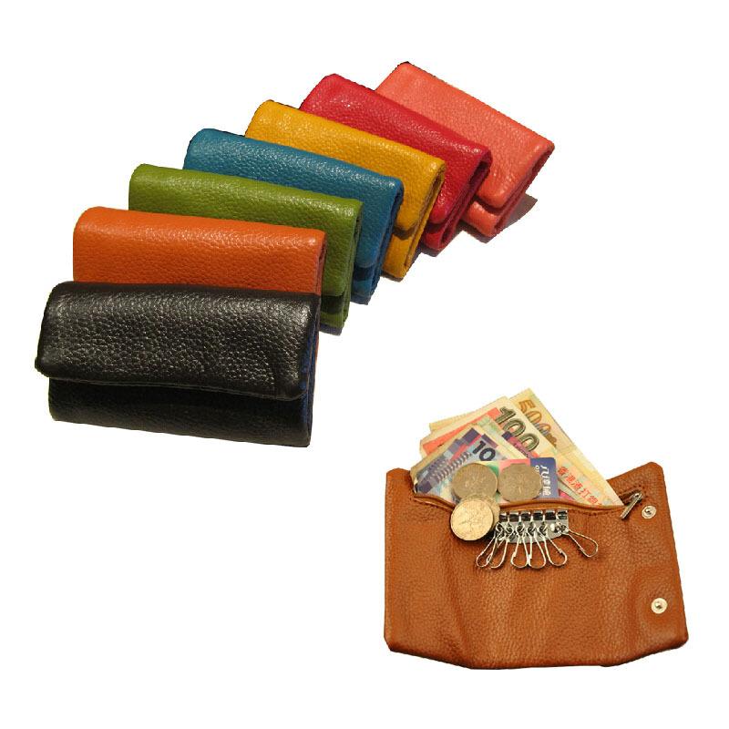 2015 Genuine Leather Key Wallet Card Holder Men Women Wallets Credit & ID holders Clutch Purse - Shenzhen Soul Technology CO., LTD store