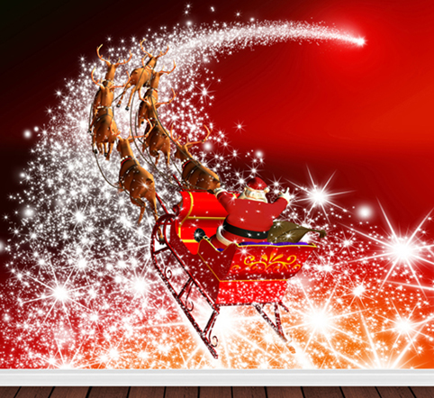 1.25 W x1.5 H m Cheap Durable Backdrop Christmas Theme Santa Claus Elk Photography Background Vinyl Top Quality Backdrop 4x5ft