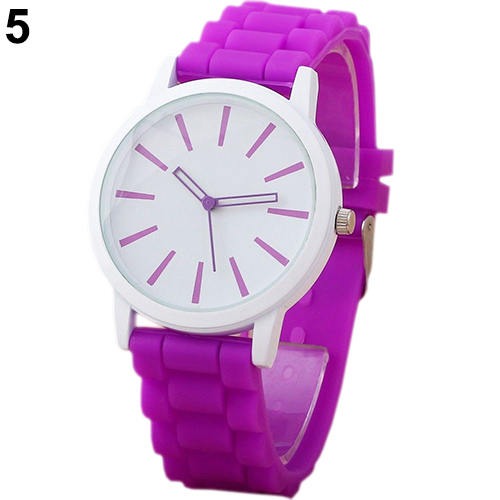 HotWomen Geneva Silicone Rubber Candy Color Watches Quartz Sports Wrist Watch(China (Mainland))