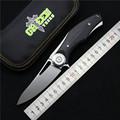 Green thorn made Dark Flipper folding knife D2 titanium blade G10 handle outdoor survival hunting camping