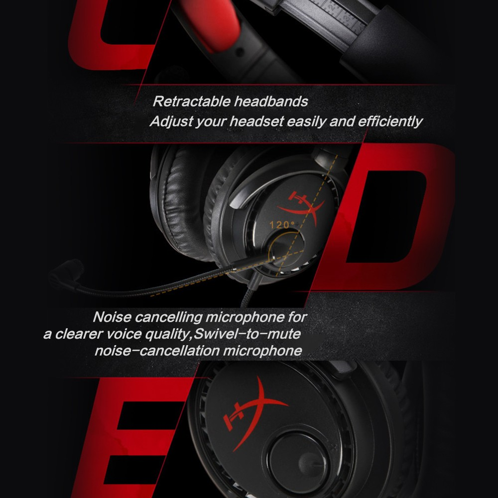 Gaming Headset Kingston HyperX Cloud Drone Headphones With a microphone