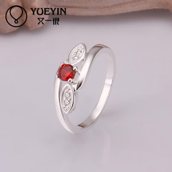 2015 NEW 925 Silver rings ruby Simulated Diamonds Fashion Austrian Crystal Acessories Vintage Jewellery