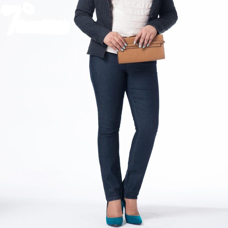 100kg European&American Style Fashion Ladies Jeans Plump Women Stretch Jeans High-Waist Cotton Pencil Pant Autumn Plus Size 6XL(China (Mainland))