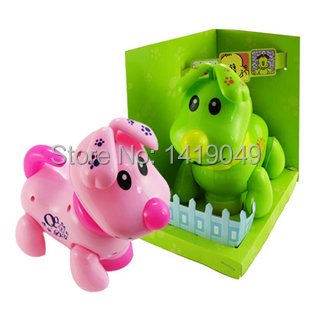 Electric toys children can call go music lights intelligent dog Free Shipping children's toys(China (Mainland))