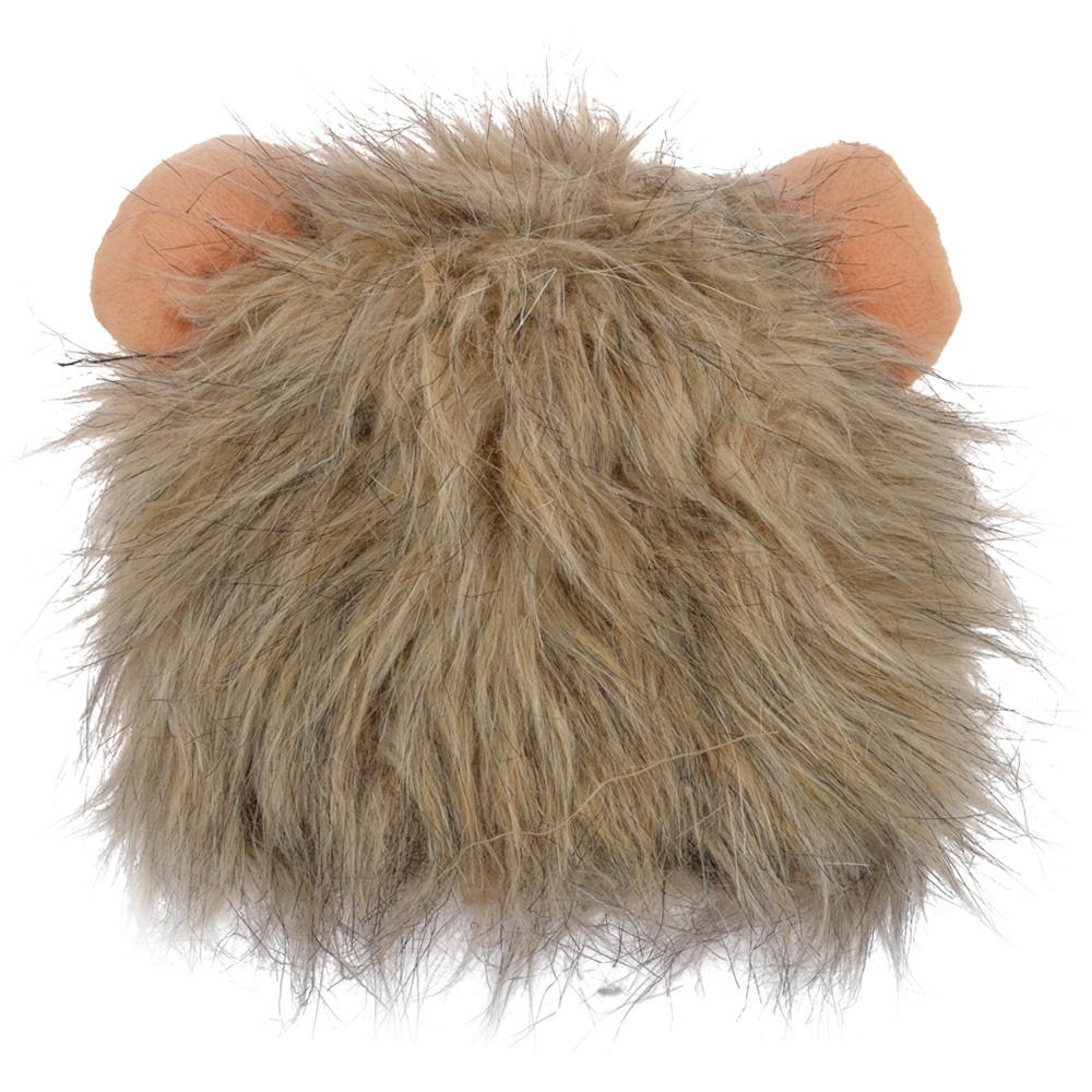 3 Colors Cute Cat Lion Hat Cat Collar with Ears Shaped Pet Headgear Hat for Small Cats /lion mane hat / costume for cat lion(China (Mainland))