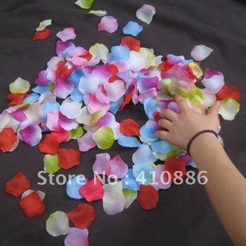 Mix colors 1000 pcs/ lot Rose Petals for Wedding decoration Christmas party artificial flowers