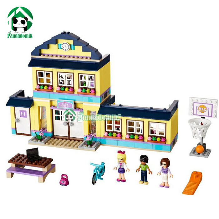 Building Blocks Set  Compatible with lego Friends Series 489 Pcs 3 Toy Figures DIY HIgh School Brinquedos Bricks Toys for Girls<br><br>Aliexpress