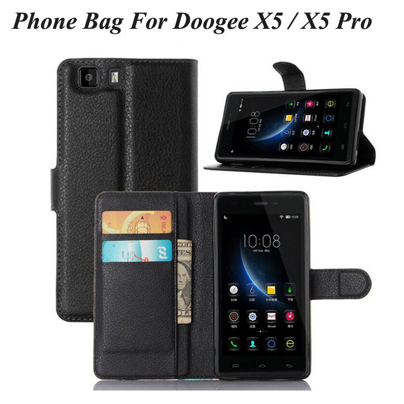 Anti-shock Flip Genuine Vintage PU Leather Phone Bag Case For Doogee X5 X5 Pro Phone Cases With Card Holder Wallet Cover Purse(China (Mainland))