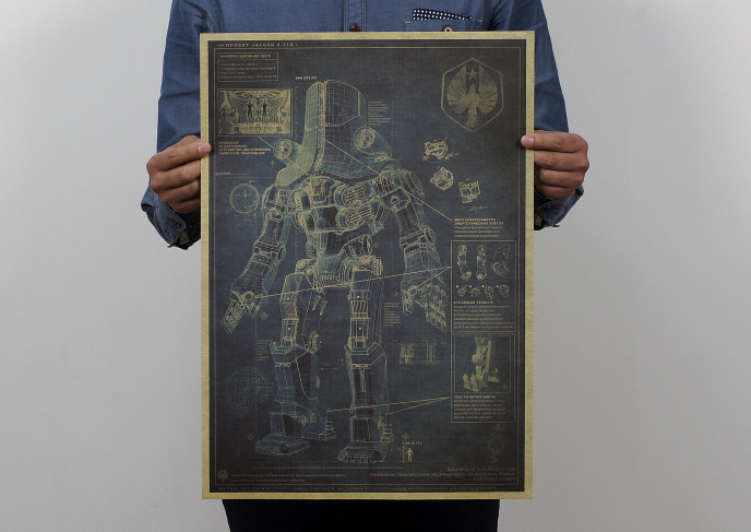 Russia Viktor Alpha poster map decoration mysterious wall sticker famous game robot of future war design drawings wall sticker(China (Mainland))