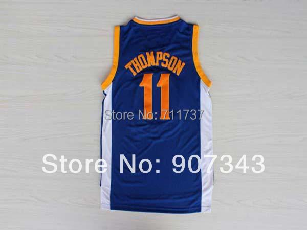 Golden State #11 Klay Thompson Jersey Basketball Jersey Stitched Logo New Material Rev 30 Sports Jerseys Basketball Shirt(China (Mainland))