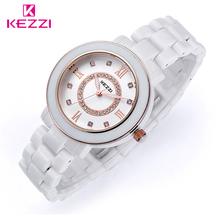 Crystal luxury fashion classic diamond ceramic watches High quality Women White Ceramic Luxury Dress Watch Diamond Wristwatches(China (Mainland))