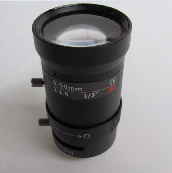 Megapixels manual 6-60mm lens aperture / zoom lens / camera Vari-focal Auto Iris CS mount lens(China (Mainland))