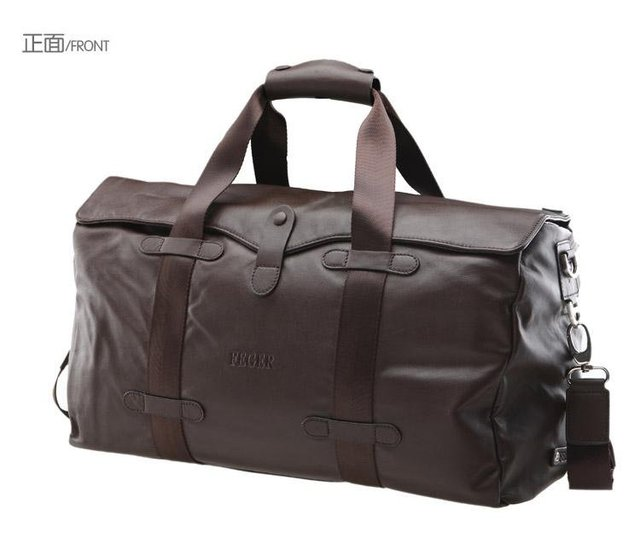 Free shipping / Feger genuine leather travel bag man messenger carryall bag