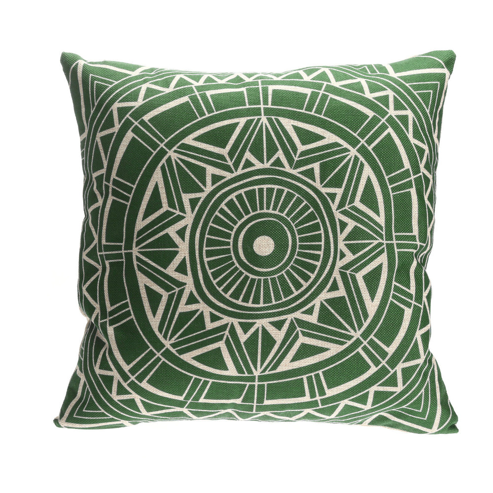 Round Throw Pillow Covers : High Quality 1Pc Home Decor Vintage Round Flower Gear Linen Waist Throw Pillow Case Cushion ...