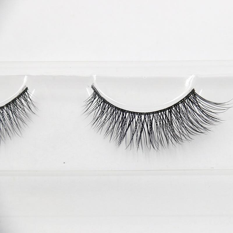 Fake Lashes Cilios Posticos Individual Beauty Strip Eyelashes Human Hair Eyelash Extension Natural Mink 2016 New Lashes D001(China (Mainland))