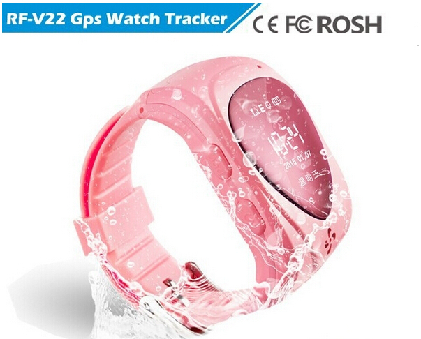 Smallest waterproof gps wrist watch V22, RF-V22 kids gps bracelet with 2 way voice phone call, app web tracking, no retail box(China (Mainland))