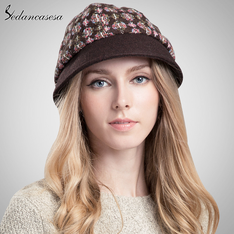 Brand Skullies Beanies High Quality Spring Winter font b Plaid b font Pattern Casual Cap Women