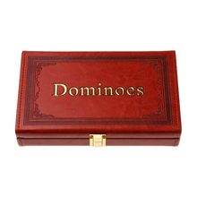 High quality luxury leather domino games(China (Mainland))