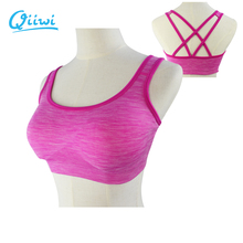 Buy Professional Sports Fitness Women Yoga Gym 2016 Top Sexy Padded Push-up Sports Bra Yoga Fitness Vest Bra Workout Running Top Bra for $7.31 in AliExpress store