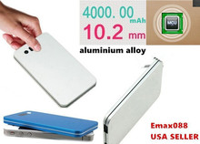 Ultra Thin Card Power Bank External Battery Charger Portable Emergency Backup USB Powerbank For Mobile Phone With Led Indicator