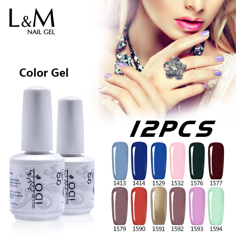 12 Pcs Free Shipping Soak Off UV IBD Gel Nail French Matte Top Coat IDO Nails polish Chinese Supplier High Quality Cheap Price(China (Mainland))