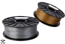 3D Printer Filament Metalic Silver color PLA ABS 1 75 3 0mm 1kg spool Rubber Consumables