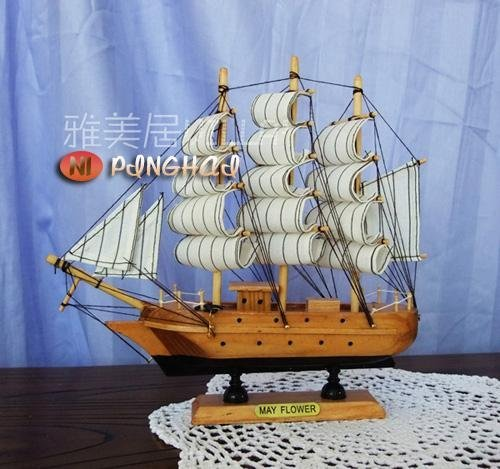 wooden ship modle,Mediterranean style, hand-made solid wood boat, process vessels, ship models, smooth sailing+FREESHIPPING