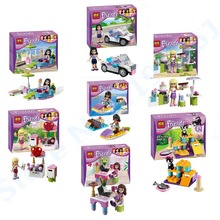 1Pcs BELA Building Blocks Friends Figures Emma/Mia Cat Play Pet House Minifigures Gifts Toys Friends(China (Mainland))