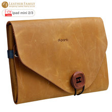 """Original For ipad mini case,new arrival Classical vintage Real crazy horse leather Sleeve bag Case for ipad mini 2 3 7.9"""" cover(China (Mainland))"""
