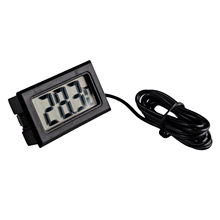 LCD Display Car refrigerator aquarium fish tank embedded electronic digital thermometer Free shipping(China (Mainland))