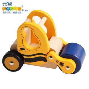 Brand YOURS Educational Wooden Mlv series i - Road Roller Little Rigs Car Collection(China (Mainland))