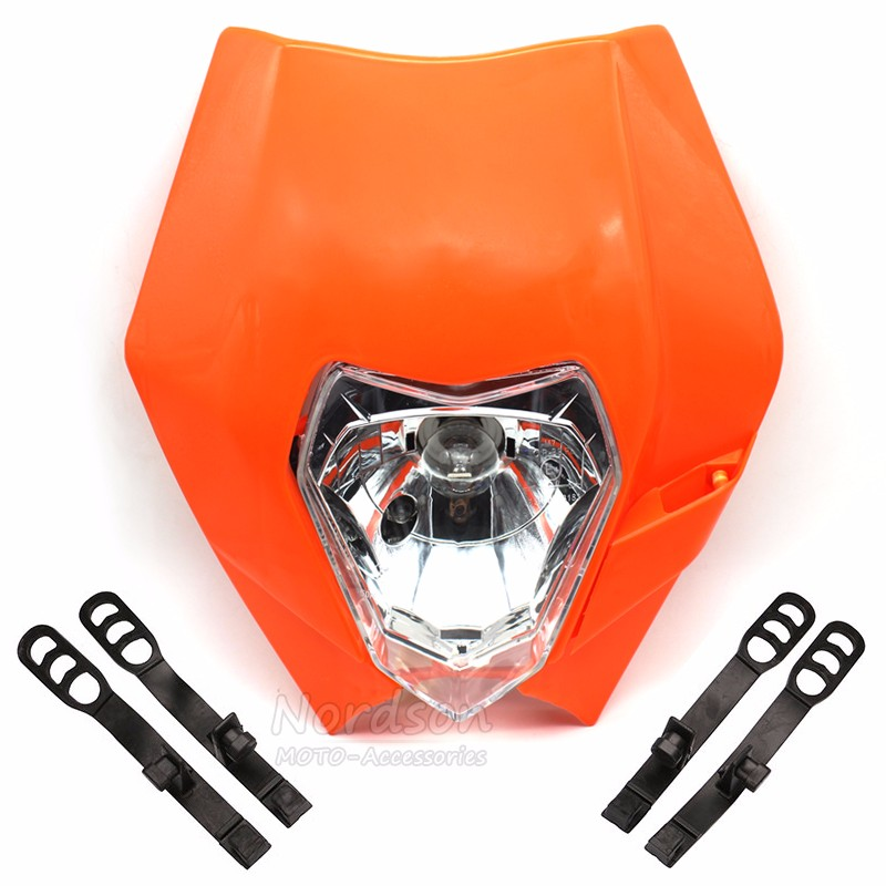 Universal Dirt Bike Motocross Supermoto Motorcycle Headlight Fairing Headlamp For KTM SX EXC XCF SXF SMR