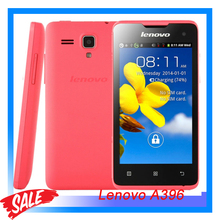 3G Cheap Phone Original Lenovo A396 4.0 inch Android 2.3 SC8830A Quad Core 1.3GHz 256MB + 256MB Cell Phone WCDMA & GSM Network
