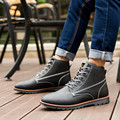 Men Boots 2016 High Quality Fashion Wear resisting Leather Shoes Autumn Winter Casual Boots High Help